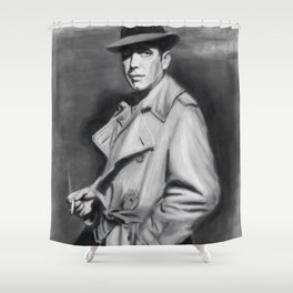 Classic Humphrey Black & White Drawing Shower Curtain