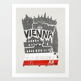 Vienna City Print Art Print