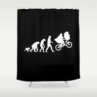 et Shower Curtains featuring evolution et by Buby87