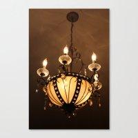 chandelier Canvas Prints featuring Chandelier by ArtByRobin