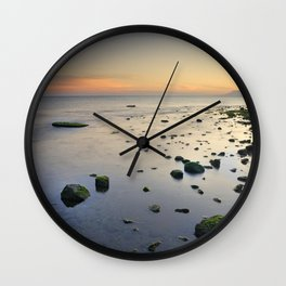 Seasunset  dreams. Beach life Wall Clock
