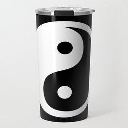 Yin Yang Black White Travel Mug