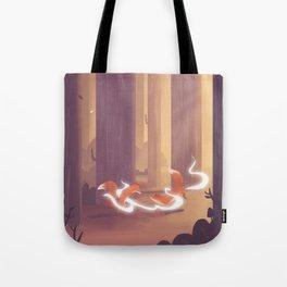Dancing Foxes Tote Bag