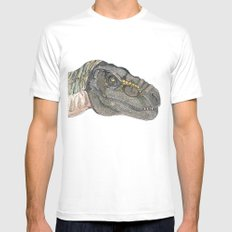 T-Rex MEDIUM Mens Fitted Tee White