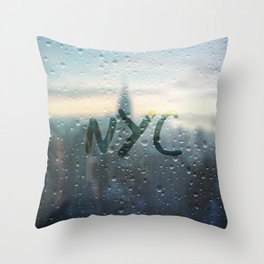 Rainy Day in NYC Throw Pillow