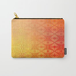 Diamonds Going On Forever (orange) Carry-All Pouch