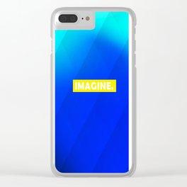 IMAGINE gradient no1 Clear iPhone Case