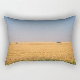 Harvest Near Garrison, ND 4 Rectangular Pillow
