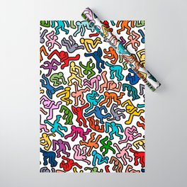 Homage to Keith Haring Color Wrapping Paper