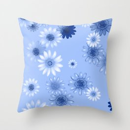 Multicolored natural flowers 16 Throw Pillow
