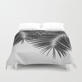 Palm Leaf Black & White II Duvet Cover