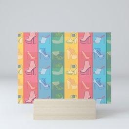 Shoe Plaid Mini Art Print