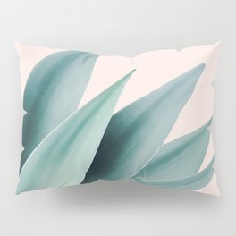 Agave flare II - peach Pillow Sham