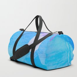 brush painting texture abstract background in blue purple Duffle Bag
