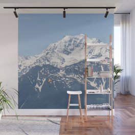 Swiss Alps and Paraglider Wall Mural