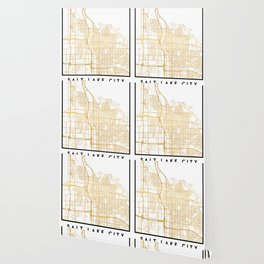 SALT LAKE CITY UTAH CITY STREET MAP ART Wallpaper