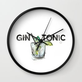 Favourite Things - Gin and Tonic Wall Clock