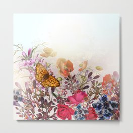 Meadow flowers. Shiny happy morning Metal Print