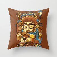 instagram Throw Pillows featuring Instagram by anggatantama
