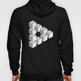 Penrose Triangle Optical Illusion Hypnotic design Hoody