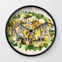karma Wall Clocks featuring Karma by Jenndalyn