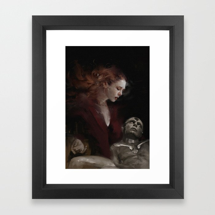 I'M STAYING Framed Art Print