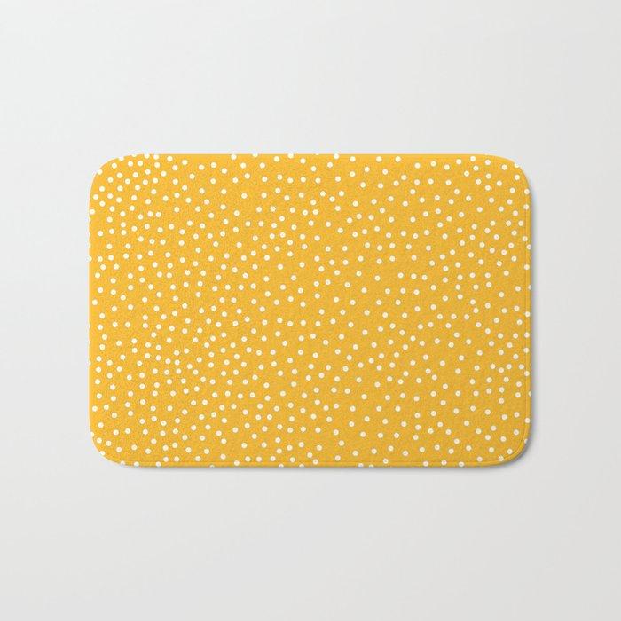 YELLOW DOTS Bath Mat