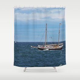 Sailboat and the Gannet Shower Curtain