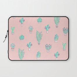 Little succulent pattern on pastel pink Laptop Sleeve