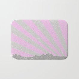 Town Silhouette Abstract Bath Mat