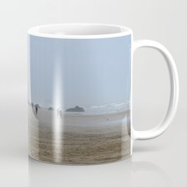 Misty Morning At Cannon Beach Coffee Mug