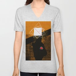 square and nude Unisex V-Neck