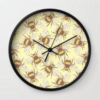bees Wall Clocks featuring Bees! by Good Sense