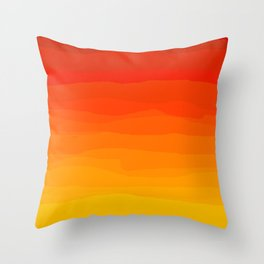 Red to Yellow Sunset Throw Pillow
