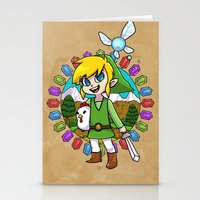 hyrule Stationery Cards featuring Hyrule Adventurer by Crimson Pumpkin