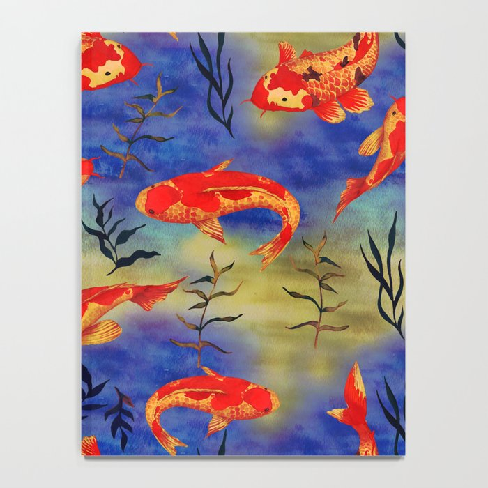 The deep water- koi fishes - watercolor Notebook