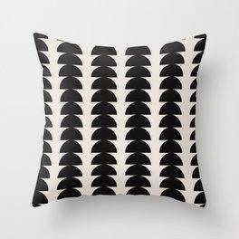 Maude Pattern - Black Throw Pillow