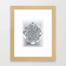 Diamond Rose Framed Art Print