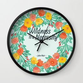 Floral Wildness Wall Clock