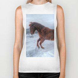 Fire and Ice - Equine Photography Biker Tank