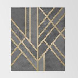 Art Deco Geometry 1 Throw Blanket