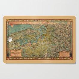 Map Of Washington 1930 Cutting Board