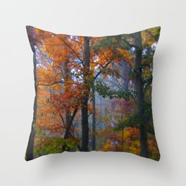 Fall Rush Throw Pillow