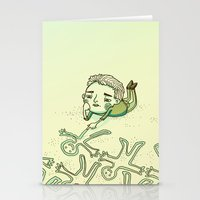 lonely Stationery Cards featuring Lonely by Emily Joan Campbell