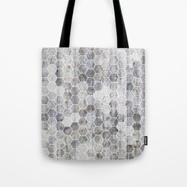 Hexagons - Concrete Tote Bag