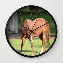 One horse town Wall Clock