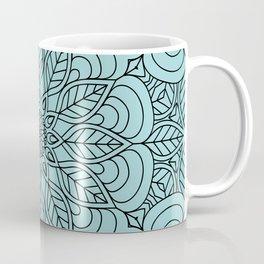 Black Flower Mandala 2 Coffee Mug