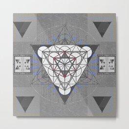 Merkaba Blueprint Sacred Portal Print Metal Print