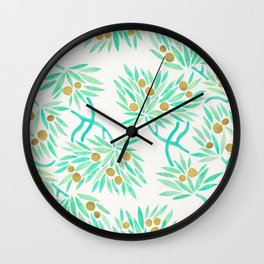 Bonsai Tree – Mint & Gold Wall Clock