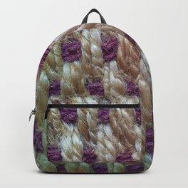 Purple Weaved Backpack